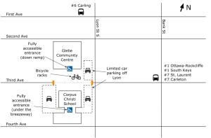 Veg Fest 2012 parking and bus map