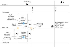Veg Fest 2012 parking and bus map